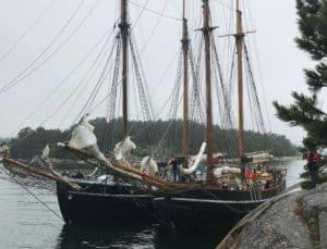 Ellen och Constantia seglar kollo