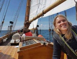 Glad Jenny kollo på havet Segelfartyget Ellen
